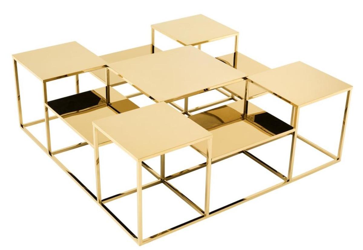Casa padrino luxus couchtisch wohnzimmertisch gold 120 x for Luxus couchtisch