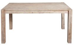 Casa Padrino Designer Real Wood Dining Table White - Acacia - 200 x 90 x H.75 cm