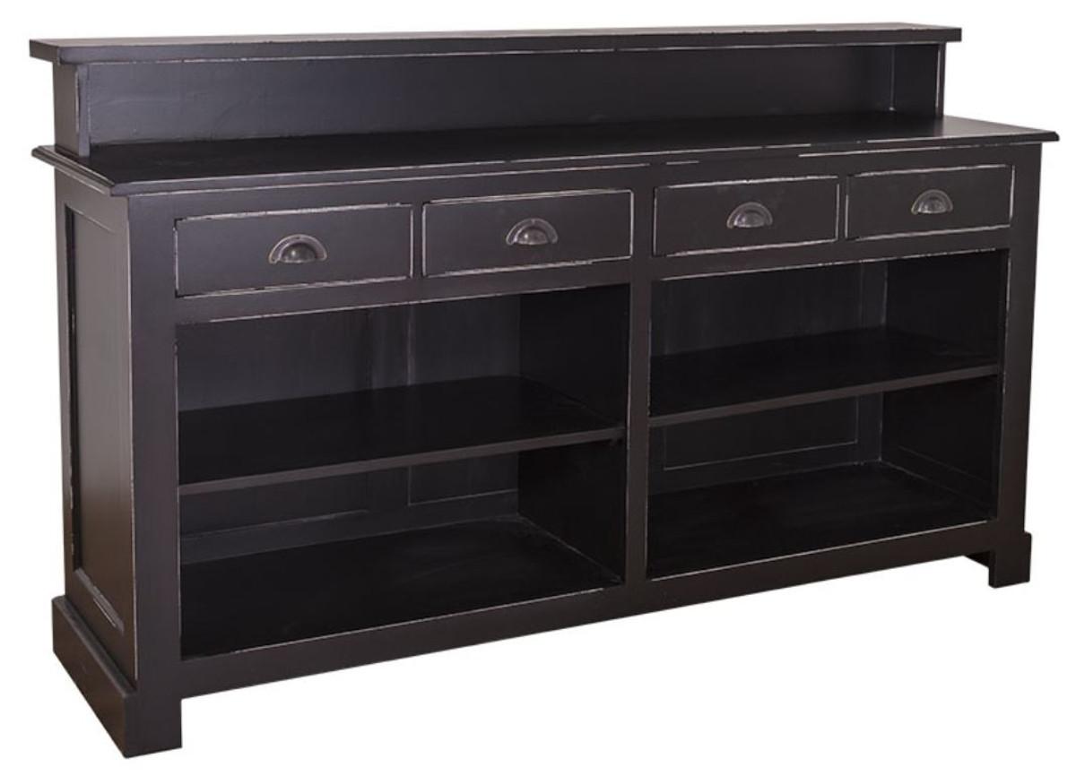 casa padrino landhausstil barschrank antik stil schwarz. Black Bedroom Furniture Sets. Home Design Ideas