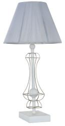 Casa Padrino Art Nouveau Table Lamp White / Gold Ø 24.5 x H. 48.5 cm - Art Nouveau Table Light