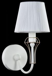 Casa Padrino Art Nouveau Wall Lamp White / Gold 15 x 24 x H. 30 cm - Art Nouveau Wall Light – Bild 3