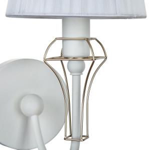 Casa Padrino Art Nouveau Wall Lamp White / Gold 15 x 24 x H. 30 cm - Art Nouveau Wall Light – Bild 6