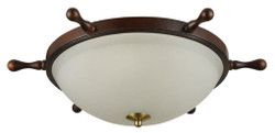 Casa Padrino Art Deco Ceiling Lamp Dark Brown Ø 52.6 x H. 17.3 cm - Art Deo Furniture
