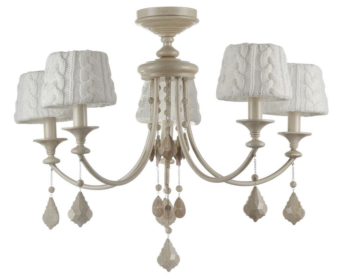 Antik Kronleuchter Lüster Kristall Lampe ~ Casa padrino barock kristall kronleuchter lüster 5 flammig beige Ø