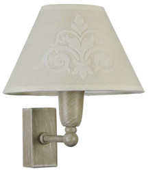Casa Padrino Art Nouveau Wall Lamp Gray / Beige 18 x 19 x H. 21 cm - Art Nouveau Furniture