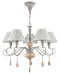 Casa Padrino Art Nouveau Crystal Chandelier Gray / Beige Ø 62 x H. 48 cm - Art Nouveau Lighting and Chandeliers