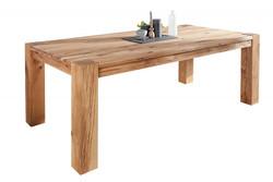 Casa Padrino designer solid wood dining table natural - oak - 200 x 100 x H.75 cm