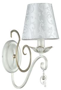 Casa Padrino Baroque Style Wall Lamp White / Gold 14 x 29 x H. 33 cm - Baroque Furniture – Bild 1