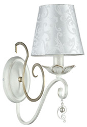 Casa Padrino Baroque Style Wall Lamp White / Gold 14 x 29 x H. 33 cm - Baroque Furniture