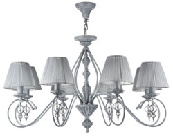Casa Padrino Baroque Chandelier Antique Gray Ø 85 x H. 55 cm - Baroque Style Chandelier