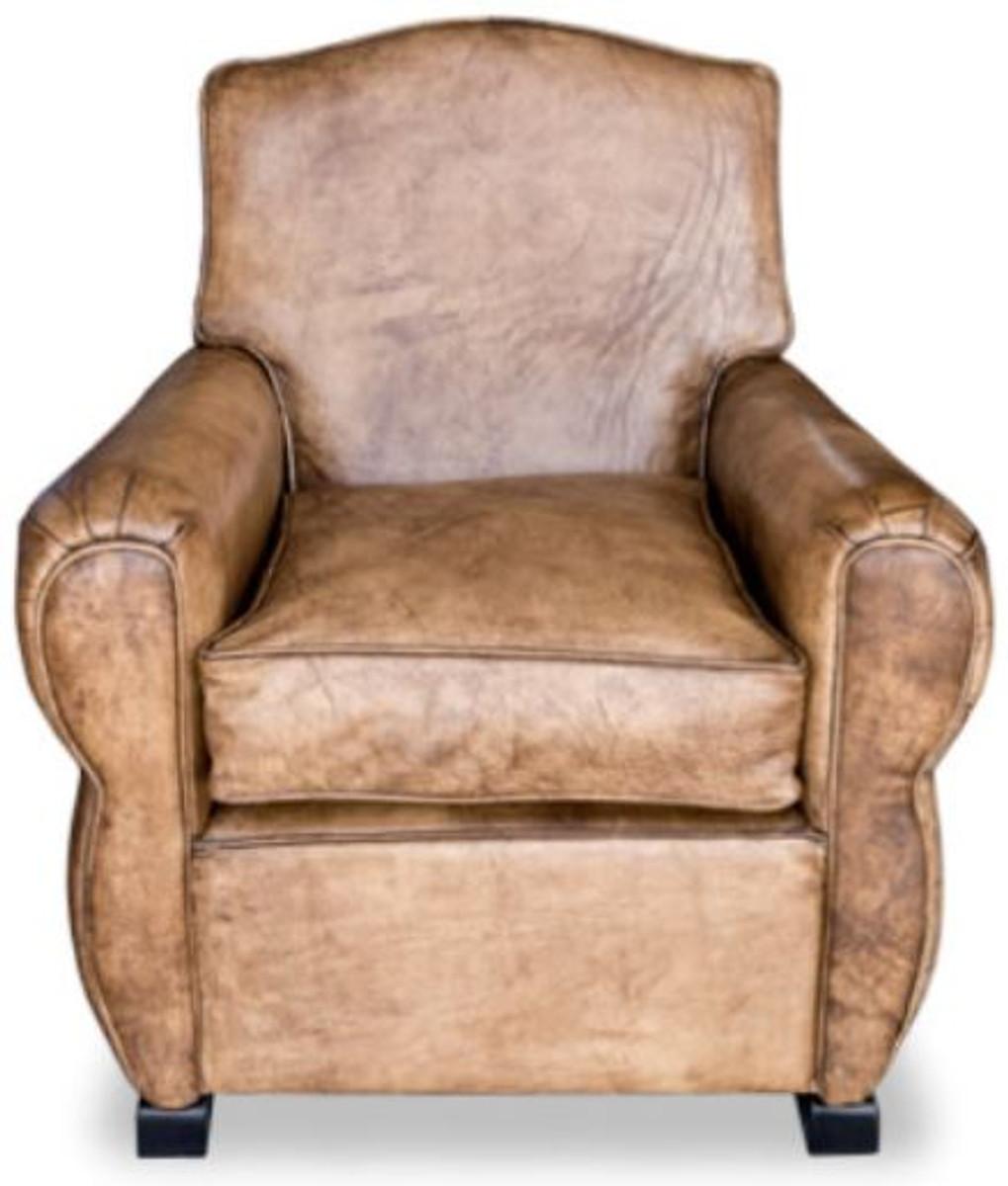Casa padrino luxus wohnzimmer leder sessel vintage for Wohnzimmer sessel vintage