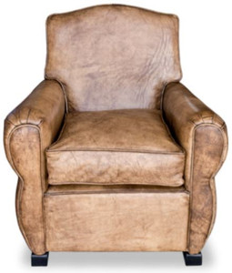Casa Padrino Luxus Wohnzimmer Leder Sessel Vintage Hellbraun 80 X 88
