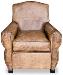 Casa Padrino Luxury Living Room Leather Armchair Vintage Light Brown 80 x 88 x H. 86 cm - Genuine Leather Furniture