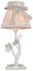 Casa Padrino Jugendstil Tischleuchte Mattweiß Ø 18 x H. 38 cm - Jugendstil Tischlampe