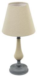 Casa Padrino Art Nouveau Table Lamp Gray / Beige Ø 22 x H. 47 cm - Baroque & Art Nouveau Furniture