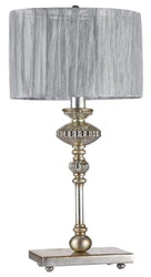 Casa Padrino Baroque Table Lamp Vintage Gold / Gray Ø 27 x H. 50 cm - Baroque Style Table Light