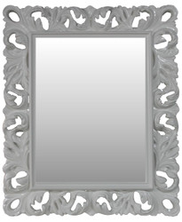 Casa Padrino Baroque wall mirror Antique style White 84 x 105 cm - Baroque mirror antique white