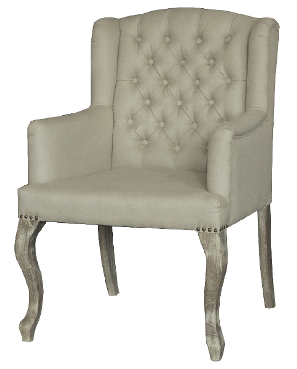 Casa Padrino Dining Chair With Armrests Cream 65 X 70 H 96 Cm