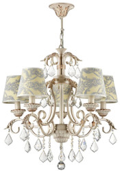 Casa Padrino Baroque Crystal Chandelier White / Gold Ø 58 x H. 61 cm - Noble & Sumptuous