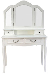 Casa Padrino Country Style Make-Up Table Antique White 90 x 40 x H. 148 cm - Country Style Furniture