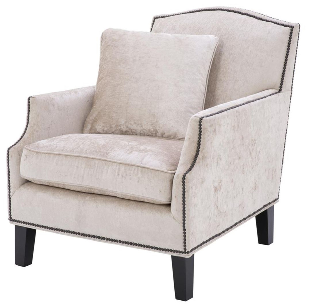casa padrino luxus wohnzimmer sessel creme schwarz 79 x 98 x h 90 cm limited edition sessel. Black Bedroom Furniture Sets. Home Design Ideas