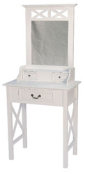 Casa Padrino Country Style Make-Up Table White 66 x 39 x H. 149 cm - Handcrafted Furniture in Country Style