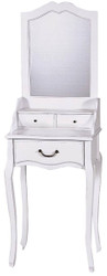 Casa Padrino Country Style Make-Up Table White 50 x 35 x H. 149 cm - Handcrafted Furniture in Country Style