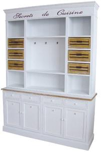 casa padrino landhausstil k chenschrank antik wei naturfarben 160 x 43 x h 218 cm. Black Bedroom Furniture Sets. Home Design Ideas