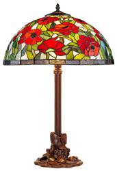 Casa Padrino Tiffany Tischleuchte Bronzefarben / Mehrfarbig Ø 40 x H. 61 cm - Tiffany Hockerleuchte aus 528 Teilen
