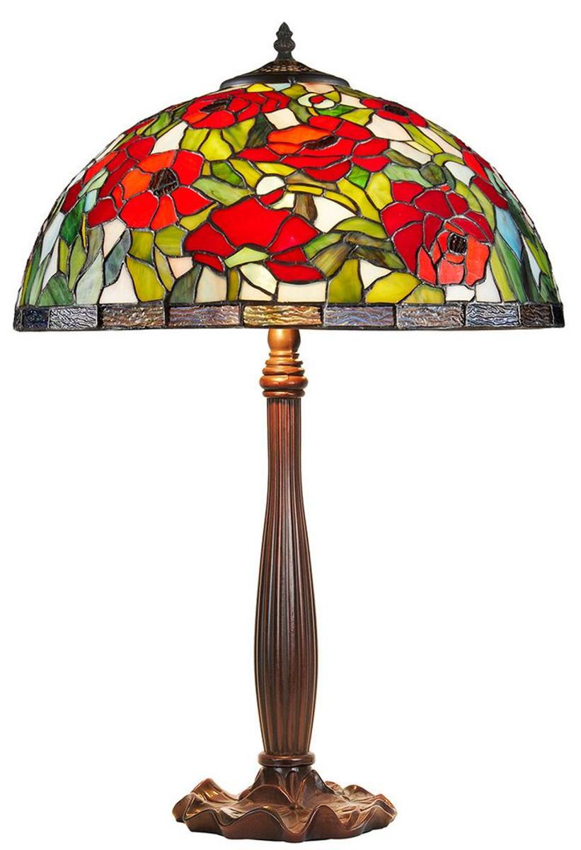 casa padrino tiffany tischleuchte bronzefarben mehrfarbig 40 x h 64 cm handgefertigte. Black Bedroom Furniture Sets. Home Design Ideas