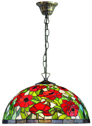 Casa Padrino Tiffany Hanging Lamp / Hanging Light Multicolour Ø 40 x H. 95 cm - Tiffany Lights