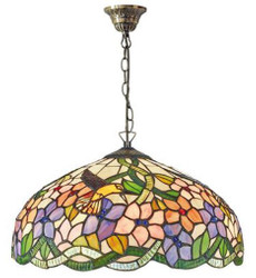 Casa Padrino Tiffany Pendant Lamp Multicolor Ø 40 x H. 82 cm - Luxury Quality