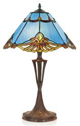 Casa Padrino Tiffany table lamp blue / multicolour Ø 40 x H. 60 cm - Handmade Table Light