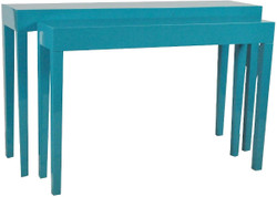 Casa Padrino luxury consoles set of 2 turquoise - Handmade Lacquered Furniture