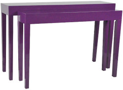 Casa Padrino luxury consoles set of 2 purple - Handmade Lacquered Furniture