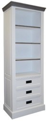 Casa Padrino Country Style Bookcase White / Gray 68 x 39 x H. 180 cm - Country Style Furniture