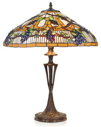 Casa Padrino Tiffany Table Lamp / Stool Lamp Ø 40 x H. 60 cm - Handcrafted lamp made of 507 pieces
