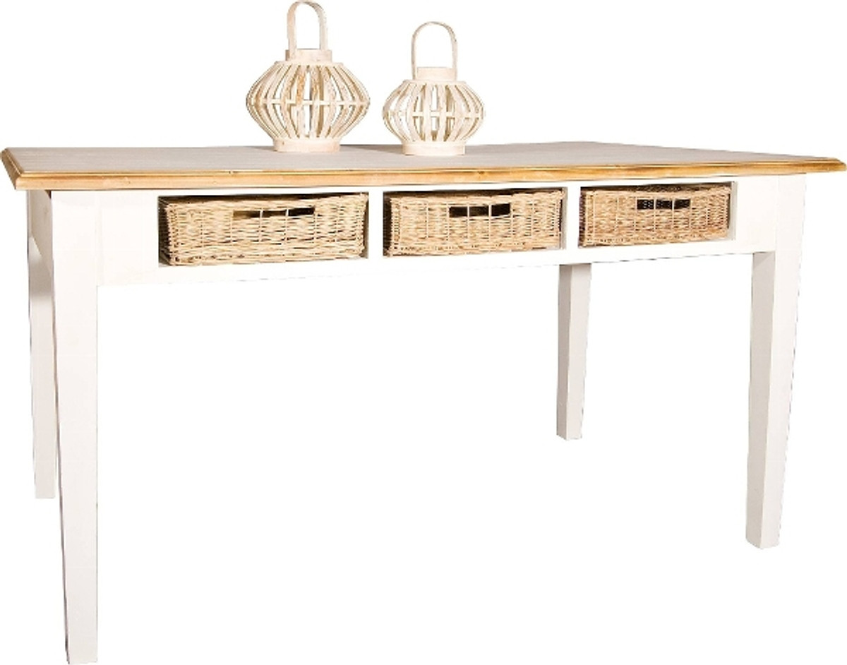 casa padrino landhausstil esstisch antik wei. Black Bedroom Furniture Sets. Home Design Ideas
