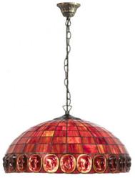 Casa Padrino Tiffany Hängeleuchte / Pendelleuchte Ø 52 x H. 110 cm - Luxus Qualität