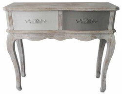Casa Padrino Country Style Console Antique White / Multicolored 91 x 33 x H. 80 cm - Shabby Chic Console Table