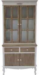 Casa Padrino Country Style Showcase White / Brown 89 x 40 x H. 195 cm - Country Style Furniture