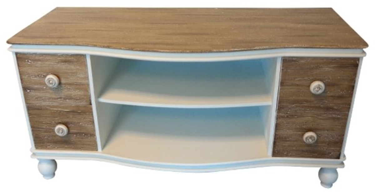 Casa Padrino Country Style Tv Cabinet White Brown 90 X 40 H 45 Cm Handmade Living Room In