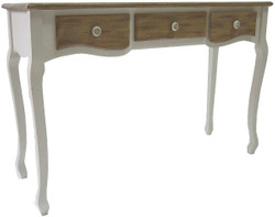 Casa Padrino country style console table white / brown 120 x 40 x H. 78 cm - Country Style Furniture