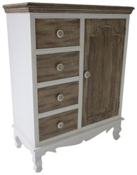 Casa Padrino Country Style Chest of Drawers White / Brown 66 x 32 x H. 86 cm - Country Style Furniture