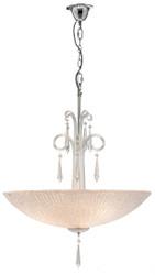 Casa Padrino Luxus Hängeleuchte Silber Ø 60 x H. 125 cm - Wohnzimmer Hängelampe
