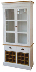 Casa Padrino Country Style Display Cabinet Antique White / Natural 88 x 38 x H. 195 cm - Country Style Collection