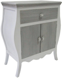 Casa Padrino country style chest with with 2 doors and drawer antique white / gray 65 x 34 x H. 76 cm - Country Style Furniture
