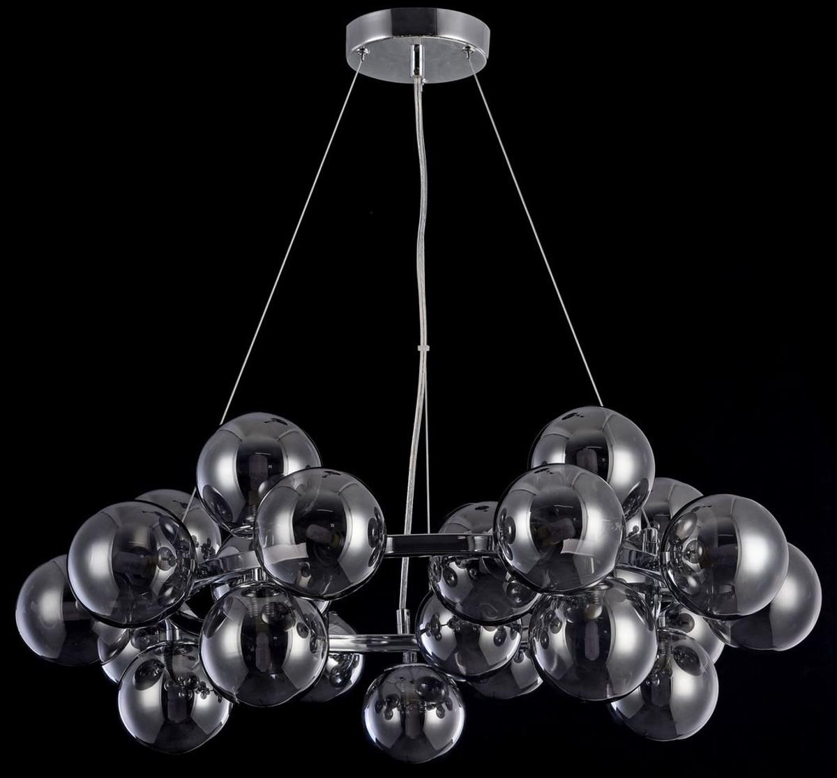 casa padrino wohnzimmer h ngeleuchte silber schwarz 69 x h 23 8 cm h ngelampe mit. Black Bedroom Furniture Sets. Home Design Ideas