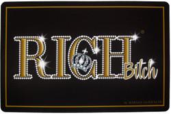 Harald Glööckler Designer Fußmatte Rich mit Krone Schwarz / Gold 66 x 44 cm - Schmutzfangmatte