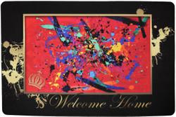 Harald Glööckler Designer Fußmatte Welcome Home mit Krone Bunt 66 x 44 cm - Schmutzfangmatte